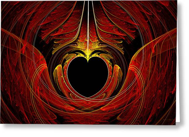Fractal - Heart - Victorian Love Greeting Card by Mike Savad