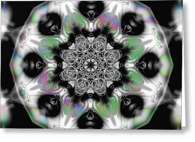 Fractal Kaleidoscope One  Greeting Card