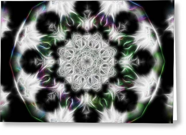 Fractal Kaleidoscope Two - Filter Effects Greeting Card by Gina Lee Manley