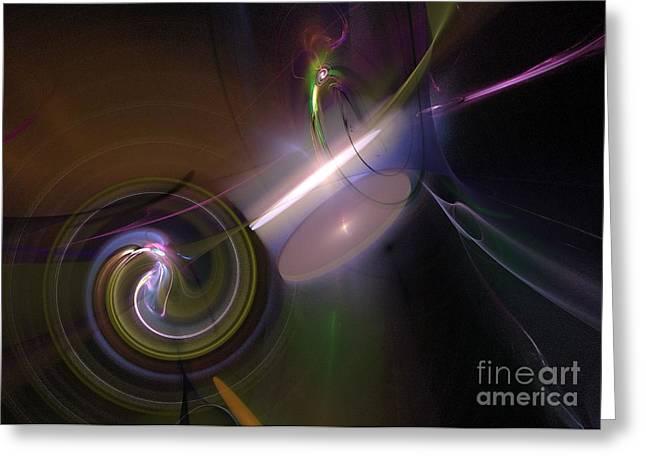 Greeting Card featuring the digital art Fractal Multi Color by Henrik Lehnerer