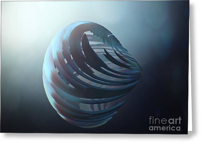 Fractal Sphere  Greeting Card