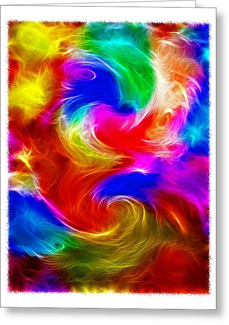 Fractal Turbulence Greeting Card by Steve Ohlsen