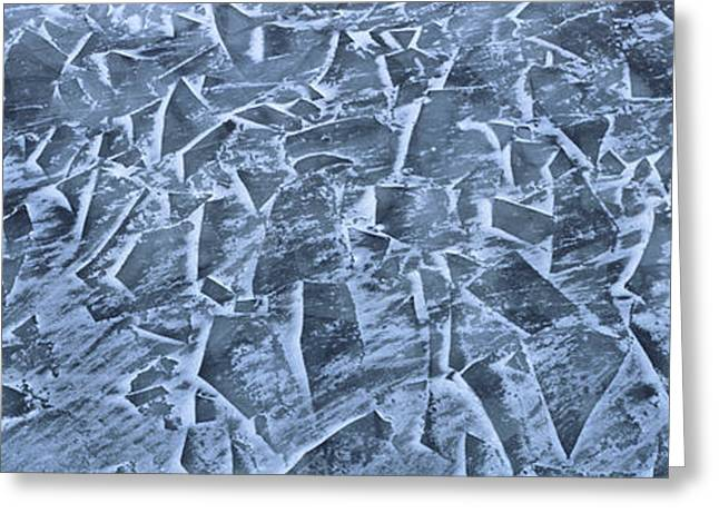 Fractured Ice On The St. Lawrence Greeting Card by Panoramic Images