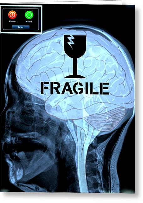 Fragile Substance Greeting Card by Paulo Zerbato