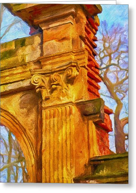 Fragment Of Ancient Ruins Greeting Card by Gynt