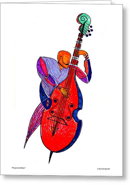 Fragmented Bass Greeting Card by Everett Spruill