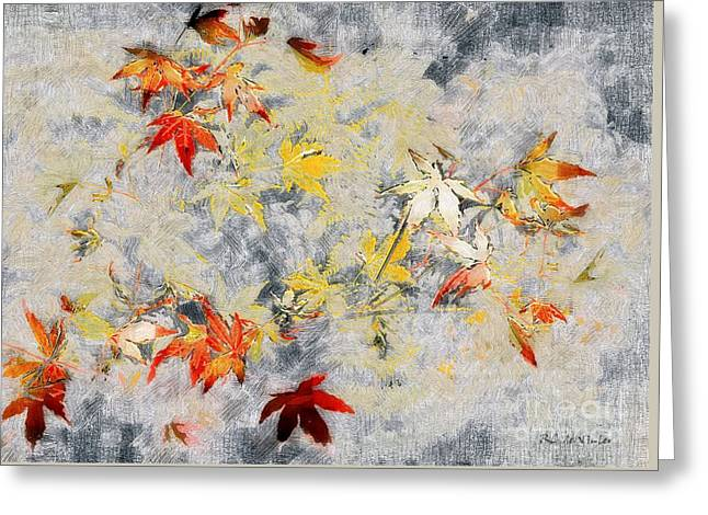 Fragments Of Fall Greeting Card by RC deWinter