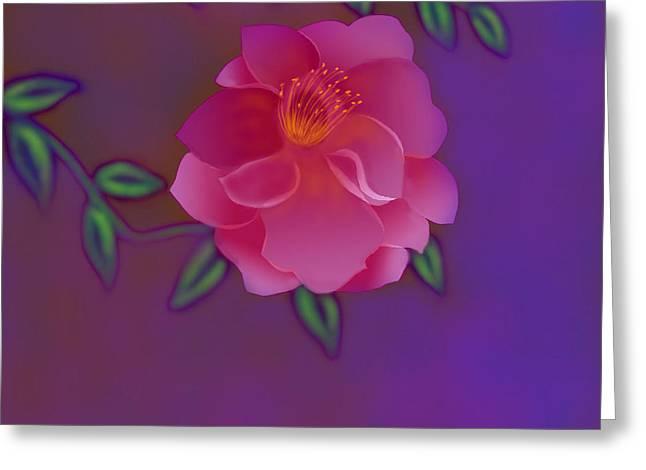 Greeting Card featuring the digital art Fragrance by Latha Gokuldas Panicker