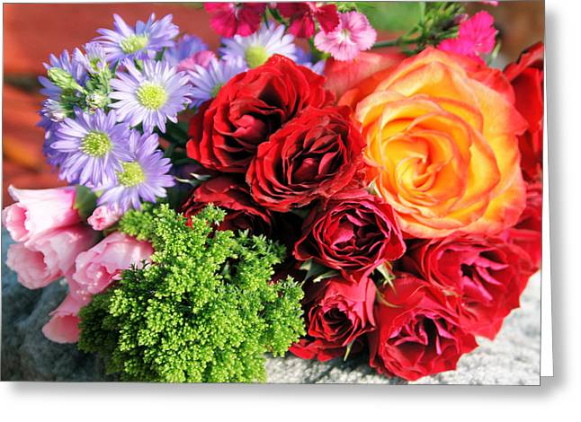 Fragrant Bouquet Greeting Card by Paulette Maffucci
