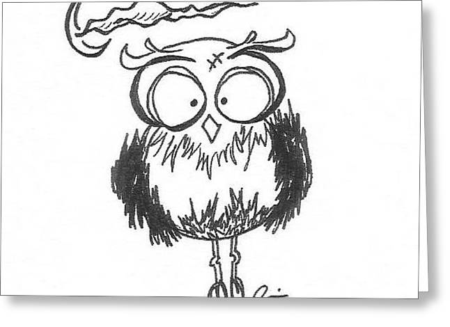 Frakenowl 2 Greeting Card