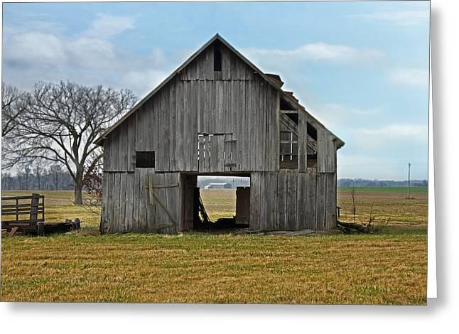 Framed Barn Greeting Card by Steven Michael
