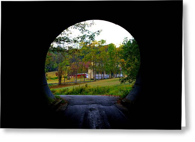 Framed By A Tunnel Greeting Card