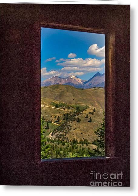 Framed White Dome Mountain Range Greeting Card