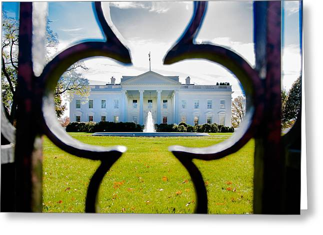 Framed Whitehouse Greeting Card by Greg Fortier