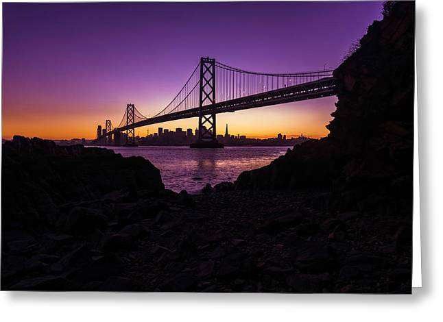 Framing The Bay Greeting Card by Dustin  LeFevre