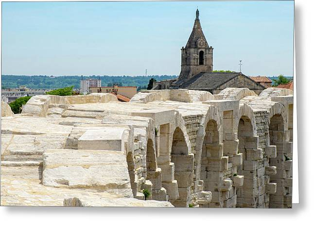France, Arles, Roman Amphitheater Greeting Card by Emily Wilson