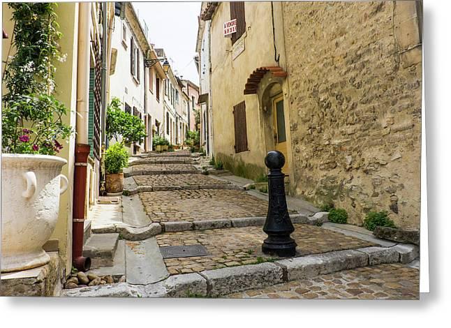 France, Arles, Street Scene Greeting Card by Emily Wilson