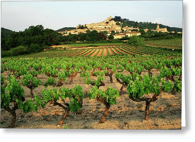France, Bonnieux, Vaucluse, Luberon Greeting Card by David Barnes