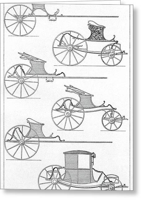 France Carriages, C1740 Greeting Card by Granger