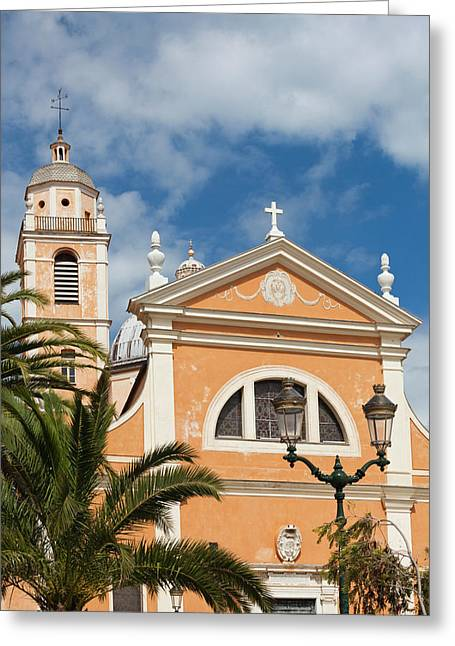 France, Corsica, Ajaccio, The Cathedral Greeting Card