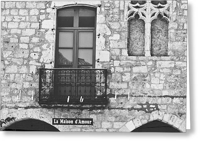 #france #french #village #house #europe Greeting Card