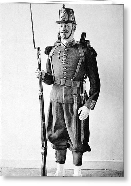 France Grenadier, 1860 Greeting Card