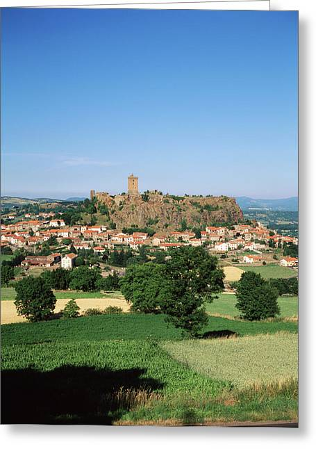 France, Haute-loire, Polignac, View Greeting Card by David Barnes