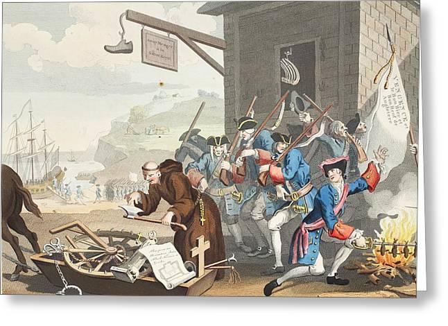 France, Illustration From Hogarth Greeting Card