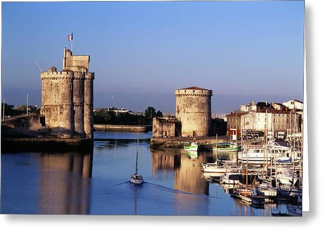 France, La Rochelle, Vieux Port, Tour Greeting Card by David Barnes