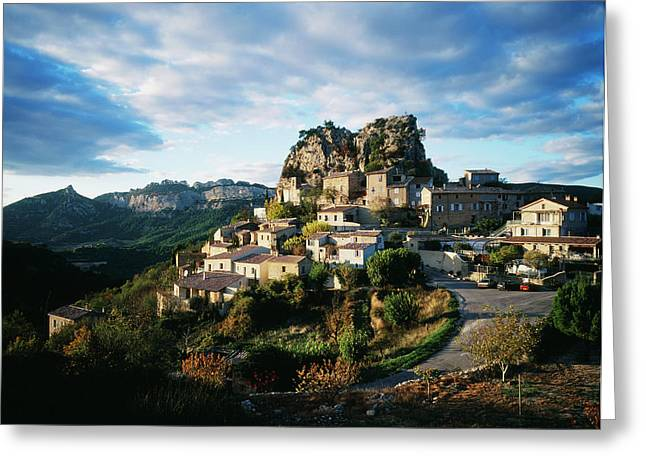 France, La Roque-alric, Vaucluse Greeting Card by David Barnes