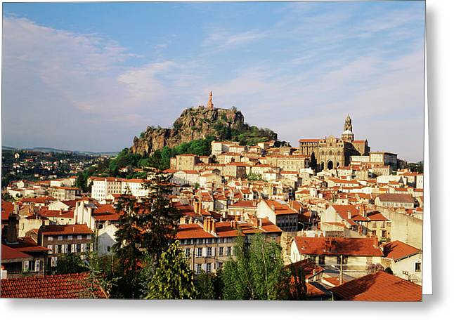 France, Le Puy, Haute Loire, Cathedral Greeting Card by David Barnes