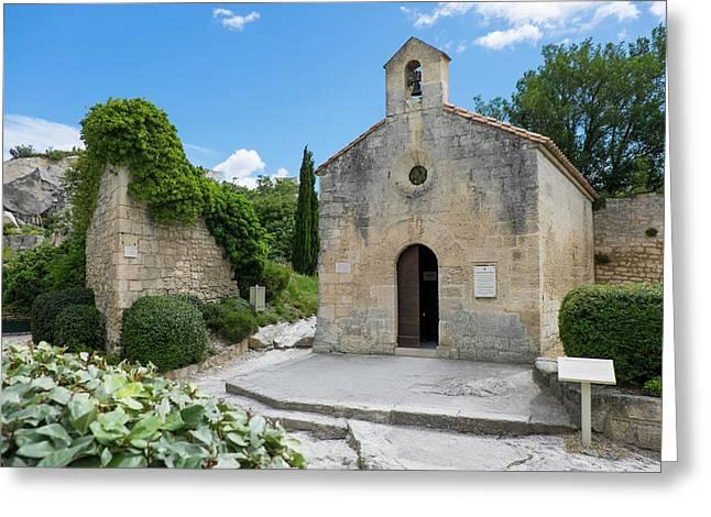 France, Les Baux De Provence, Limestone Greeting Card