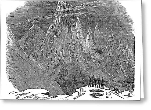 France Mont Blanc, 1851 Greeting Card by Granger