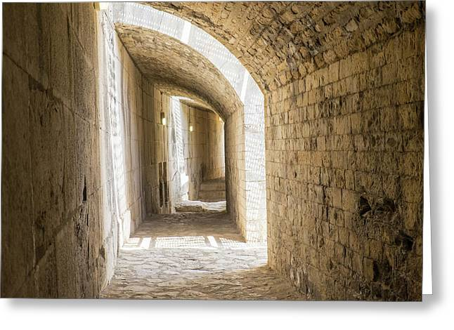 France, Nimes, Roman Amphitheater Or Greeting Card by Emily Wilson