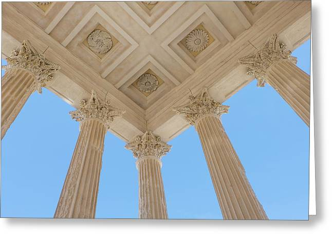 France, Nimes, The Maison Carree Greeting Card by Emily Wilson