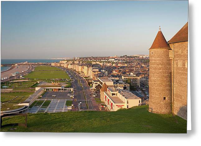France, Normandy, Dieppe, City View Greeting Card
