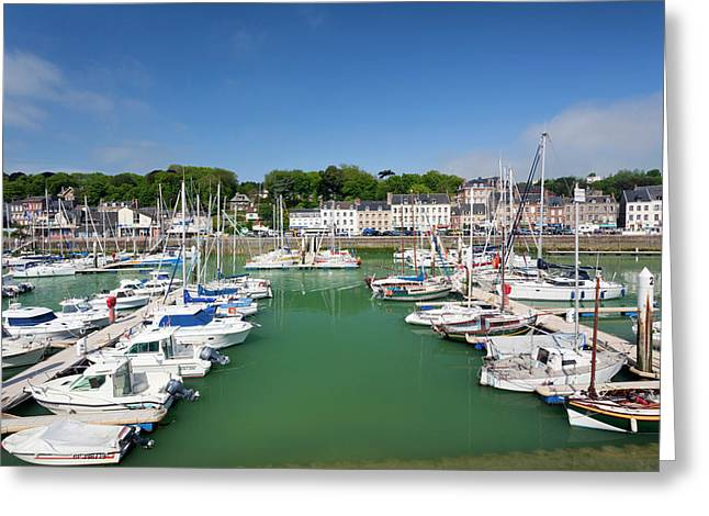 France, Normandy, St-valery En Caux Greeting Card by Walter Bibikow