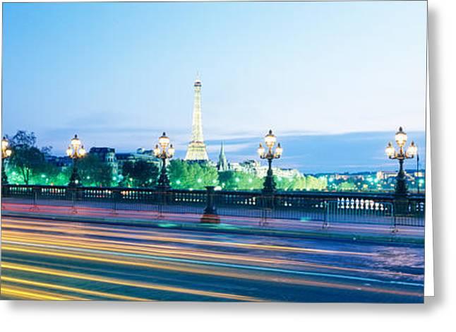 France, Paris, Alexandre IIi Bridge Greeting Card