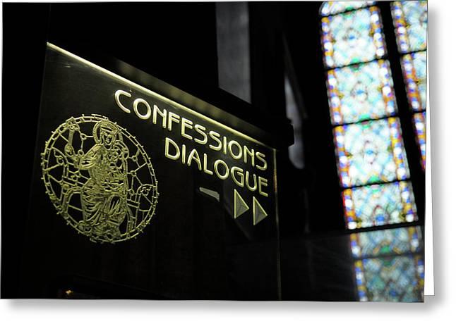 France, Paris Confessions Dialogue Greeting Card