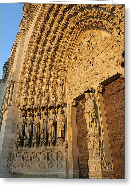 France, Paris Door Arches With Carved Greeting Card