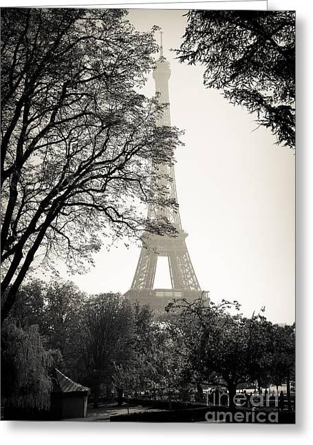 The Eiffel Tower Paris France Greeting Card