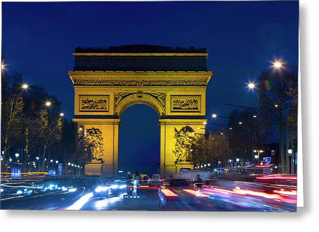 France, Paris The Arc De Triomphe Greeting Card by Jaynes Gallery