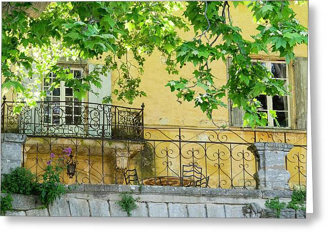 France, Provence, Bonnieux, Chateau Greeting Card by Emily Wilson