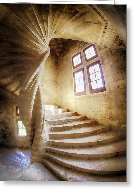 France, Provence, Lourmarin, Spiral Greeting Card