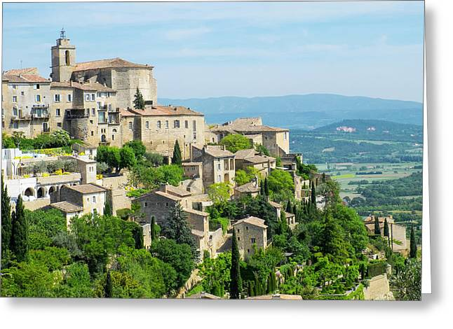 France, Provence, Luberon, Gordes Greeting Card by Emily Wilson