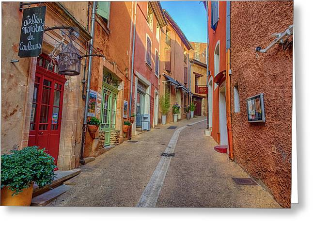 France, Provence, Roussillon, Town Greeting Card