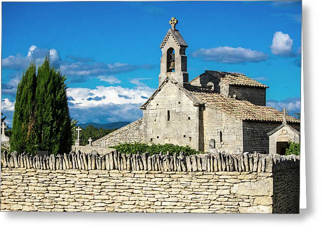 France, Provence, Saint Pantaleon Greeting Card by Terry Eggers