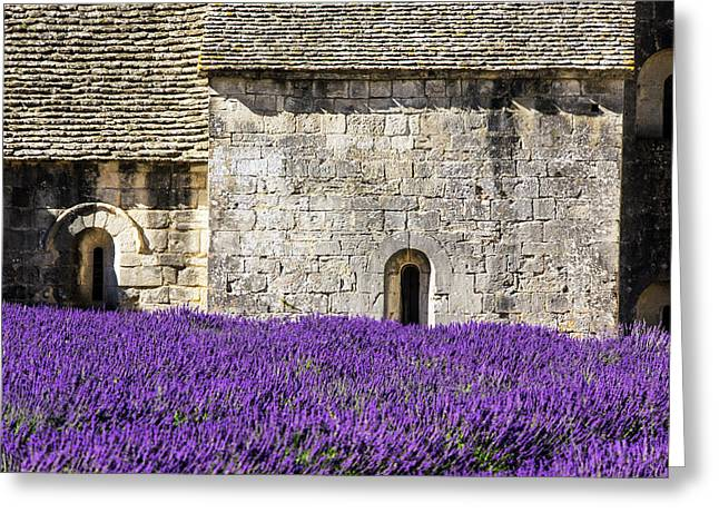 France, Provence, Senanque Abbey Greeting Card by Terry Eggers