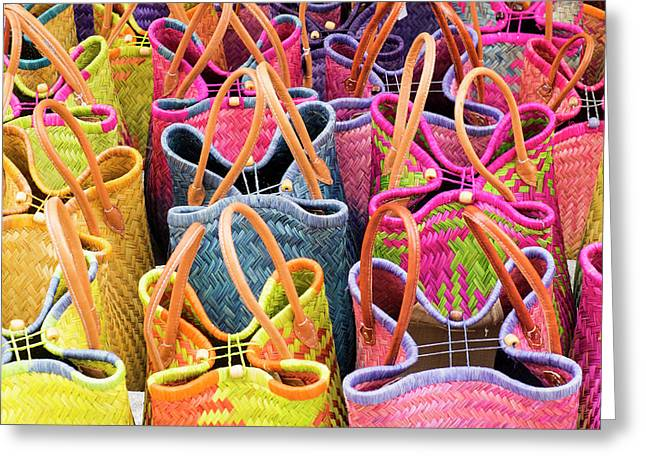 France, St Remy Baskets For Sale Greeting Card