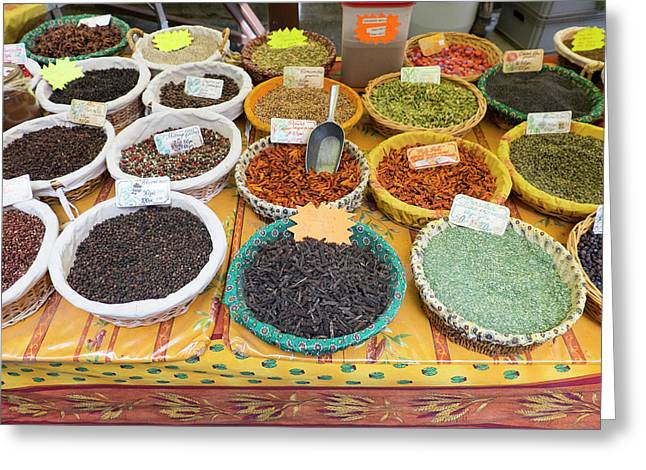 France, St Remy Spices For Sale Greeting Card